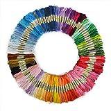 Zafina 刺繍糸 手芸用糸 刺しゅう糸  クロスステッチ  初心者カラフル 縫い糸 刺繍ツール 50本セット  (50本セット)