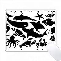 黒海の動物の背景 PC Mouse Pad パソコン マウスパッド