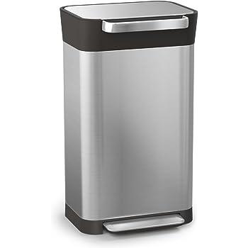 Joseph Joseph ゴミを1/3に圧縮するゴミ箱 クラッシュボックス ステンレス 30L 30030