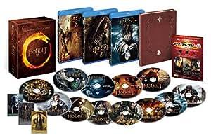 【Amazon.co.jp限定】ホビット トリロジーBOX 3D&2Dブルーレイセット(12枚組/デジタルコピー付)(B2ポスター付) [Blu-ray]