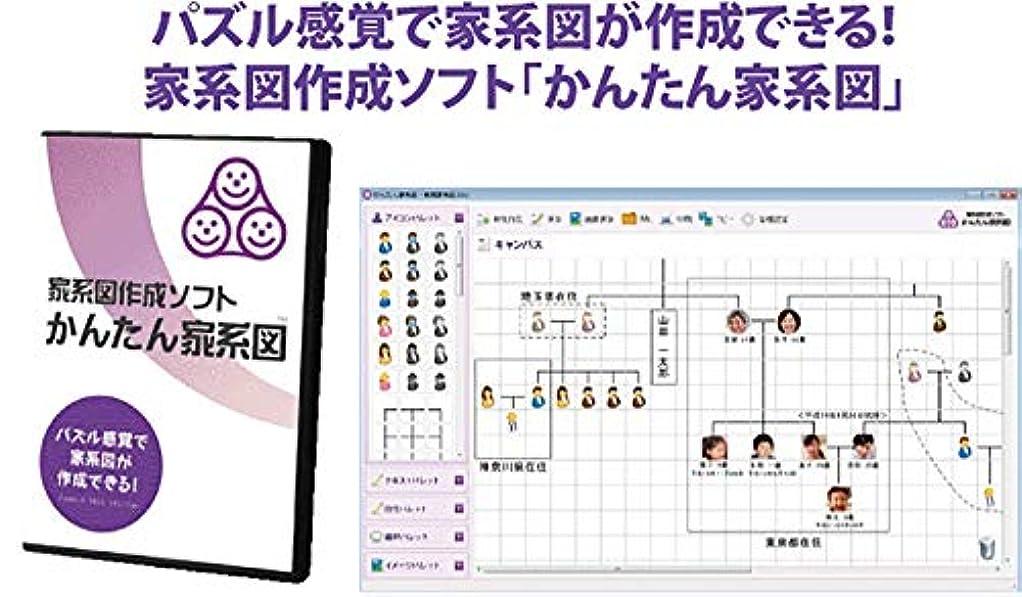 仕立て屋割り込みもろい家系図作成ソフト「かんたん家系図」