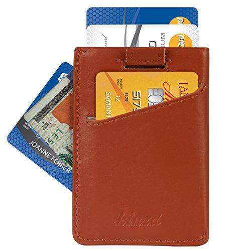 Kinzd® 本革カードポケット RFIDブロッキング 超薄い財布 コンパクト財布 メンズ