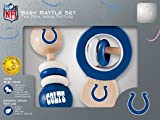 MasterPieces NFL Detroit Lions Real Wood Baby Rattles (2-Pack)