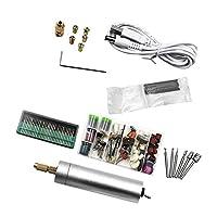 Fityle USB充電式 電気ロータリードリル  研削盤 ポリッシャー 研磨 電動彫刻ペン 全8種セット 人間工学 高トルク  - #8