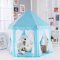ポータブルCastle Play Tent ChildrenアクティビティFairy House Kids Funnyインドア&アウトドアPlayhouseビーチテントベビーPlaying Toy Perfect Gift for Kids (ブルー)
