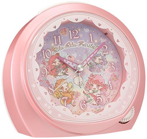 セイコー クロック 目覚まし時計 リルリルフェアリル アナログ ピンク パール CQ151P SEIKO