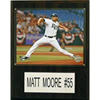 MLB Tampa Bay Rays Matt Moore Player Plaque