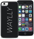 【WAYLLY】ウェイリー iPhone8, iPhone7,iPhone6,iPhone6s 全対応専用 ケース /どこでもくっつく新素材のセルフィーケース 衝撃吸収素材 (LOGO WHITE)