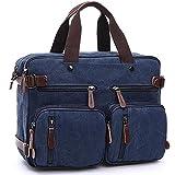 KUMAX リュックサック 帆布 手提げ 旅行 バッグ バッグパック ビジネス ショルダーバッグ リュック 通勤通学 カジュアル 収納簡単 出張 多機能 PCバッグ KU152-4