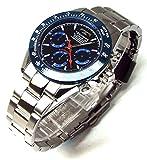 TECHNOS テクノス メンズ腕時計 クロノグラフ ネイビーダイヤル 工具ブレスセット TSM401SN-SET [並行輸入品]