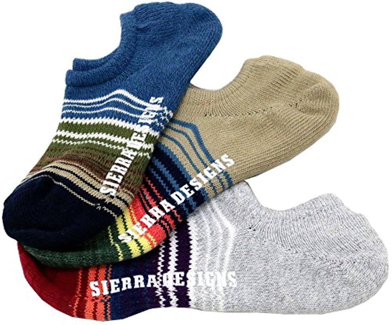 [シェラデザイン] 靴下 メンズ ソックス ボーダー セット 3足組