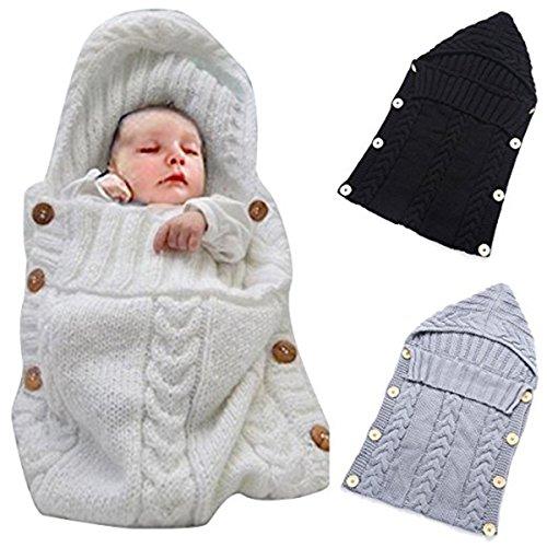 oenbopoベビー用寝袋赤ちゃん用おくるみニット製