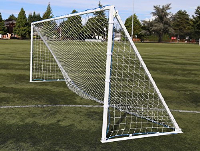 調整可能、ポータブル、アルミサッカーゴール、キャリーバッグとアンカーキット付き。