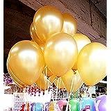 メイハウス50 個12インチバルーン風船 ラテックス風船 バルーン パーティー お誕生日会 結婚式 飾り付け (ゴールド)