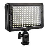 ビデオライト 160球 1200ルーメン ビデオライト LED 持ち運び 単三電池 NP-F リチウム電池 DC給電可 Nikon Canon デジタル一眼レフ ビデオ カメラ対応 PT-C-160S