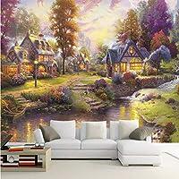 Lcymt カスタム写真の壁紙トーマススタイルの森の風景壁画リビングルームのベッドルームテレビの背景壁の装飾3D壁画壁紙-400X280Cm