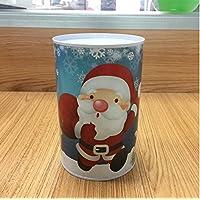 HuaQingPiJu-JP クリスマスマネーバンク円柱の缶詰めはピギーバンク(ブルーサンタクロース)することができます