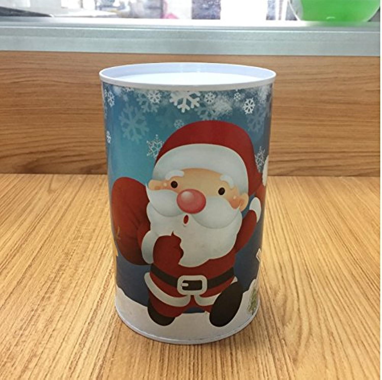 マネー バンク クリスマスマネーバンク円柱の缶詰めはピギーバンク(ブルーサンタクロース)することができます