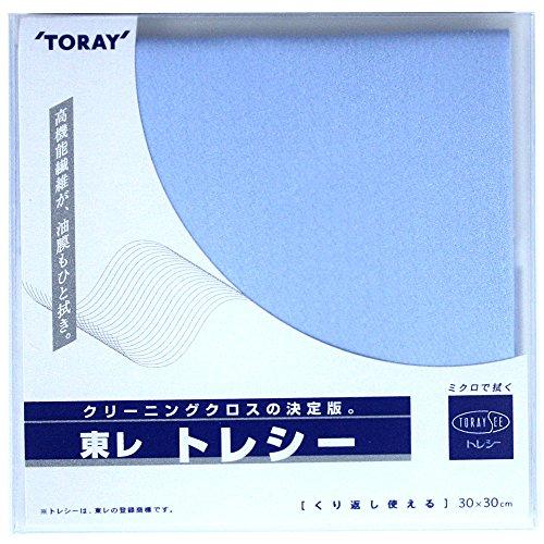 ⑤スカイブルー 東レ トレシー30×30cmメガネ拭き