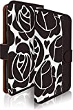 KEIO ケイオー OPPO R17 Neo カバー 手帳型ケース フラワー r17neo 手帳 花柄 バラ OPPO R17 Neo ケース 手帳型 シック ローズ ライン ホワイト オッポ アール17 ネオ ittnシックローズラインホワイトt0726