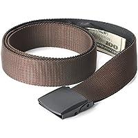 Travel Security Money Belt with Hidden Money Pocket - Cashsafe Anti-Theft Wallet Unisex Nickel free Nylon Belt by WERFORU