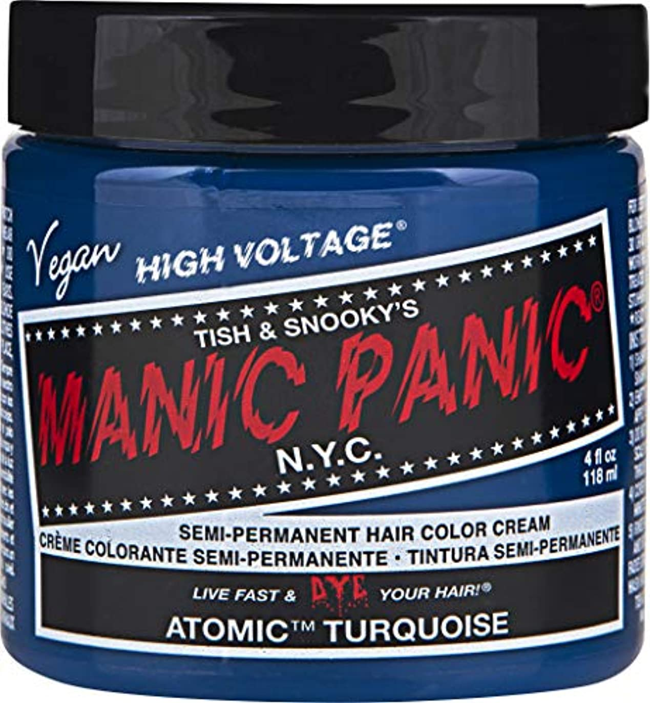 重要なダイバーのりMANIC PANIC Cream Formula Semi-Permanent Hair Color - Atomic Turquoise
