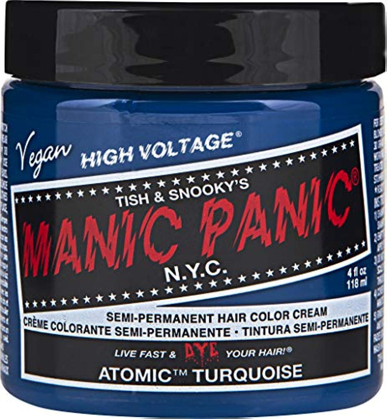 液化する嵐オーガニックMANIC PANIC Cream Formula Semi-Permanent Hair Color - Atomic Turquoise [並行輸入品]