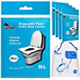 Disposable toilet seat covers - 50 sheets of XL flushable paper toilet seat covers for adults and kids potty training - trave