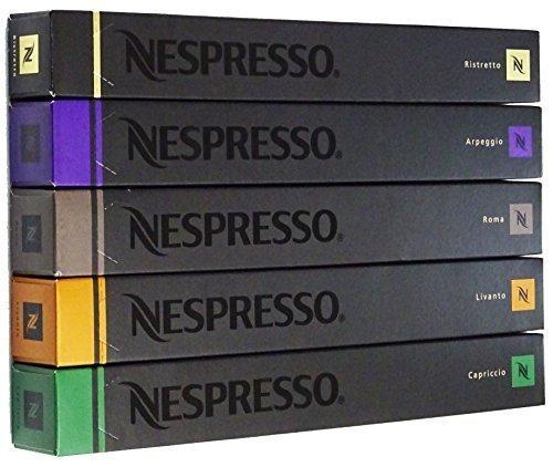 NESPRESSO ネスプレッソ カプセル コーヒースムーズタイプ5種×10カプセル×=50カプセル並行輸入品