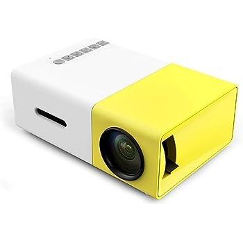 PowerLead ホームエンターテイメントプロジェクター、LEDプロジェクター、ホームシネマ、ビデオや映画をサポートUSB/SD/ AV/HDMI入力ポケットプロジェクター