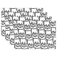 ランチョンマット かわいい猫 プレースマット 撥水 防汚 丸洗い お手入れ 簡単 滑り止め 摩擦 耐える 断熱 飾り 食卓 雰囲気 大人 子供 対応 家庭 レストラン用