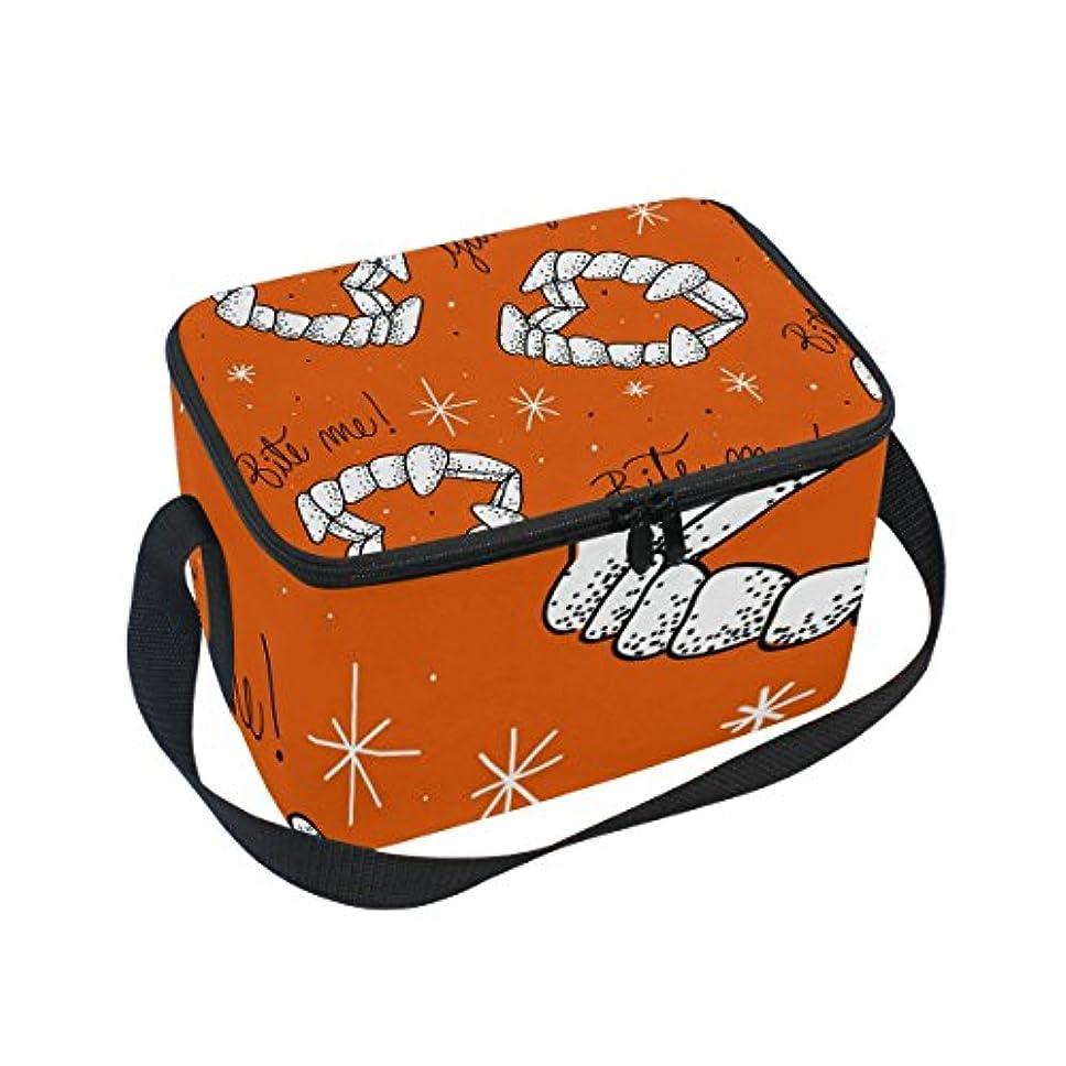 警告最大の監督するクーラーバッグ クーラーボックス ソフトクーラ 冷蔵ボックス キャンプ用品 バンパイア 歯 保冷保温 大容量 肩掛け お花見 アウトドア