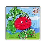 販売 16 個の木製パズルベビー幼児早期教訓インテリジェンス絵柄パズル木のおもちゃ # YL1