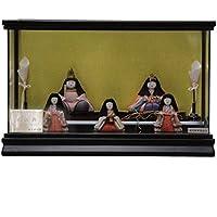 雛人形 ケース入り木目込み五人揃 光の詩2052 幅42cm 3mk57 柿沼東光