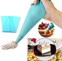 Elegantflower 3サイズセット 絞り袋 ベーキング絞り袋 再利用可能 シリコンゴム製 デコレーションツール お菓子作り用 クリーム絞り出し袋 ペストリーバッグ クリーム ケーキ アイシング 配管 デコレーションツール 製菓用品