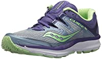 Saucony Women's Guide Iso Fog/Purple Mint Ankle-High Mesh Running Shoe - 7.5M
