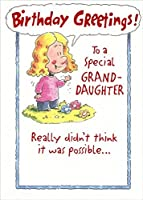 Girl and 3つ花: Granddaughter – Designer Greetings誕生日カード