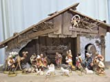 創業100年木彫りブランド《レーピ》クリスマス人形 キリスト降誕セット(プレゼピオ) ルパート  聖家族5cm 人形22体 カラーC 【イタリア】
