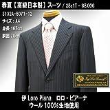 シングル2釦スーツ「日本製」ウール100% イタリア/チャコールグレー系ストライプ柄/メンズ紳士服上下 ロロ・ピアーナ画像②
