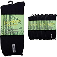 UP 7 Pairs Men Mens Thick Bamboo Work Socks Heavy Duty Cushion Bulk New Size 6-11,11-13 Black Navy Grey
