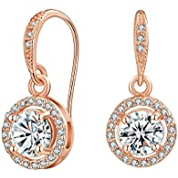 Mestige Rose Gold Liberty Drop Dangle Earrings with Swarovski® Crystals, Gift