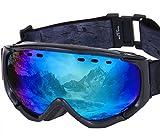 PONTAPES(ポンタペス) スノーボード ゴーグル 全6色 メンズ レディース ダブルレンズ Revo ミラーレンズ PNP-781 BLK/P_BLK/BLU スキーゴーグル スキー スノー用ゴーグル スノーゴーグル スノー ゴーグル スノボ スノボー スノーボードゴーグル ダブル レンズ ミラー レンズ