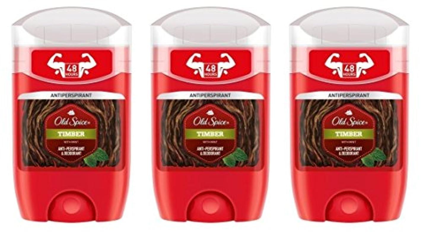 バルーンコーデリアライブ(Pack of 3) Old Spice Timber with Mint Antiperspirant Deodorant Solid Stick for Men 3x50ml - (3パック) オールドスパイス木材...