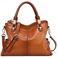 Kattee Women's Urban Style Genuine Leather Tote Shoulder Bag Top-handle Satchel Crosssbody Handbag