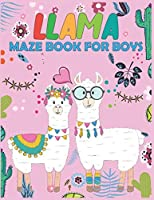 Llama MAZE Book For Boys: Maze Activity Book for Kids | Beautiful Llama Maze Book for Smart Boys