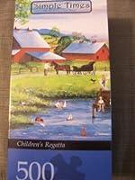 Masterpieces Puzzles Simple Times Children's Regatta 500 Pieces
