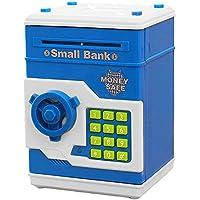 Cartoon電子Imitation ATMパスワード貯金箱現金コイン銀行はお金の子供ギフト誕生日クリスマスDay ブルー G430380015