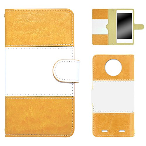 whitenuts Disney Mobile on docomo N-03E ケース 手帳型 バイカラー イエロー カード収納 ストラップホール WN-OD086648