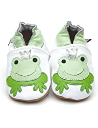 Soft Leather Baby Shoes Prince Frog [ソフトレザーベビーシューズプリンスカエル] 18-24 months (15 cm)