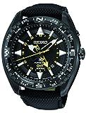 [セイコー]Seiko 腕時計 Prospex Kinetic GMT Black Ion 100 M Black Leather Strap Watch SUN057 [並行輸入品]